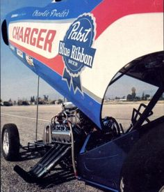 Pabst Blue Ribbon Beer - Drag Racing Funny Car