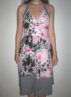 * * * SPORTMAX Sommerkleid rosa/schwarz/weiß, Gr.36 * * *