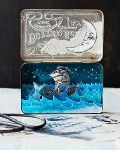 small cabinets arctic diorama diy tutorial using polar stamp 26316