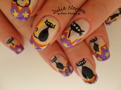 Silly Halloween nails ♥ inspired by Robin Moses ♥