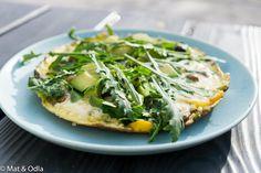 Äter ofta omelett till lunch, den här blev krämig, god och nyttig! Du hittar receptet på Mat & Odla!