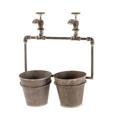 Maisons du Monde   'Gabin' Cache-pot en métal H 48 cm