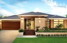 Single story modern home design simple contemporary house plans throughout single story house design ideas Contemporary House Plans, Modern House Plans, Modern House Design, Contemporary Design, Simple House Design, Single Floor House Design, Kerala House Design, Bungalow House Design, Single Story Homes