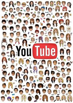 Youtubers Vloggers New Limited Edition Youtube Poster Zoe Joe Caspar Phil & Dan Lucy Lydia Troye Oli White Tyler Oakley KSI Miranda Sings Connor Franta Pewdiepie Casey Neistat Sugg Favourites A1