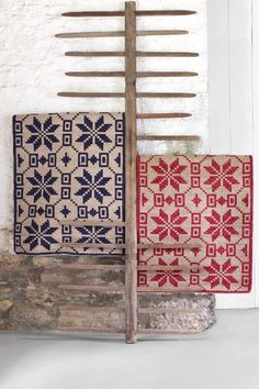 NEW from Dash and Albert: Nordic Star Crimson Wool Woven Rug & Nordic Star Indigo Wool Woven Rug
