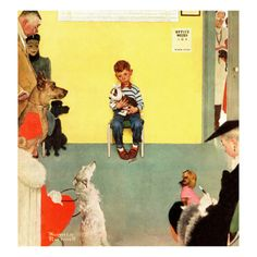 """""""At the Vets"""", March 29,1952 Giclee Print by Norman Rockwell at Art.com"""
