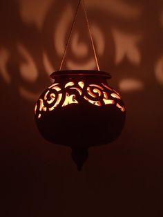 Terracotta Lantern CANDLE HOLDER planter pot to by NovaEtruria