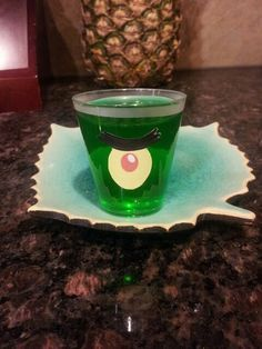 Plankton Lime jello, Sponge Bob Party