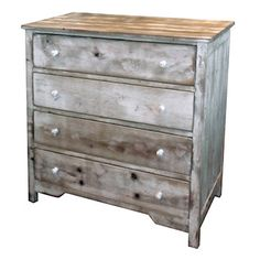 """595 2"""" wide x 19"""" deep x 40"""" high  4 Drawer Chest, Reclaimed Salvaged Solid Wood, Vintage and Rustic"""