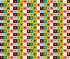 squares fabric by bora on Spoonflower - custom fabric