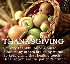 Article: Thankful To Be A Nurse On Thanksgiving - Nurses Rock