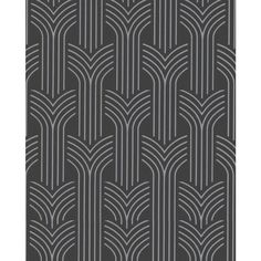 Superfresco Easy Black/Silver Paper Geometric Wallpaper
