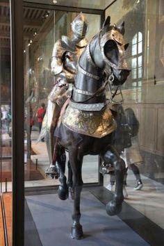 Armadura do Cavaleiro e seu cavalo