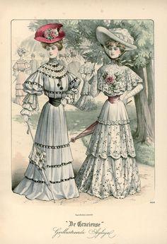 [De Gracieuse] Zomer-wandeltoiletten (August 1904)