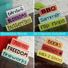 Mini 4 sided stackers {Spring - Back 2 School} | Thoughts in Vinyl Only $12.50