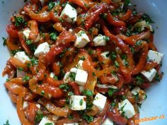 Salát z pečených paprik Kung Pao Chicken, Petra, Salads, Vegetables, Ethnic Recipes, Food, Essen, Vegetable Recipes, Meals