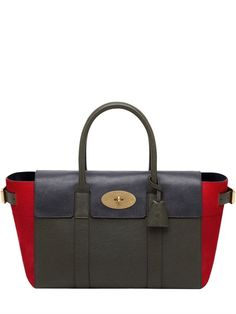MULBERRY - LARGE BAYSWATER BUCKLE LEATHER BAG - LUISAVIAROMA - LUXURY SHOPPING WORLDWIDE SHIPPING - FLORENCE