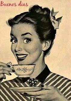 Buenos días need coffee, coffee talk, coffee is life, coffee break, morning Humor Vintage, Art Vintage, Retro Humor, Mode Vintage, Vintage Ads, Vintage Images, Vintage Girls, Coffee Talk, Coffee Is Life
