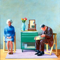David Hockney - relationship with parents.