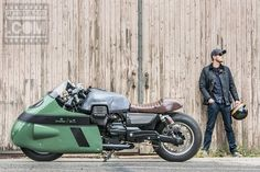 Numbnut Motorcycles made this super-cool Guzzi for Vanguard clothing The V8 Racer jeans an...