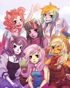 My little pony friendship is magic anime drawings :3