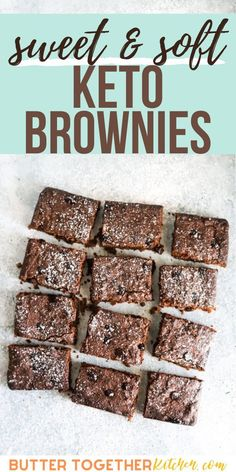 If you're looking for the Best Fudgy Keto Brownies, look no further! These brownies from Butter Together Kitchen are so soft, moist and fudgy on the inside, with the traditional thin layer of crispness on the top and edges that we all love. #brownies #brownierecipes #keto #ketorecipes #lowcarbrecipe #lowcarbdessert Easy No Bake Desserts, Sugar Free Desserts, Low Carb Desserts, Low Carb Recipes, Dessert Recipes, Healthy Recipes, Healthy Desserts, Cake Recipes, Keto Cookies