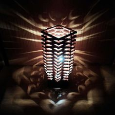 For this amazing lamp....  U wl need ice cream sticks. Paste them in the above order. Put a single candle inside it and lit it...