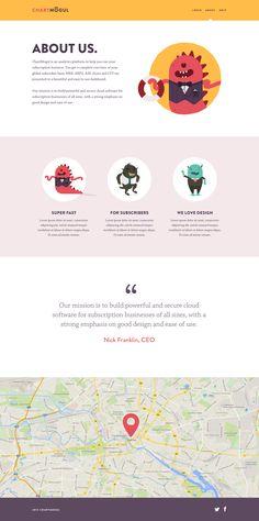 About Us page // Oli Lisher via Dribbble