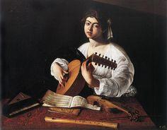 The Lute Player by Caravaggio (b. 1571, Caravaggio, d. 1610, Porto Ercole)