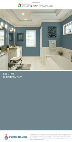 New bath room paint blue vanities 58 ideas Interior Paint Colors, Paint Colors For Home, Style At Home, Room Colors, House Colors, Home Renovation, Home Remodeling, House Painting, Home Projects