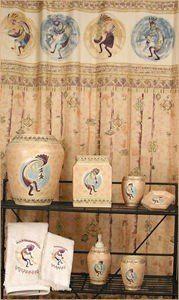 Kokopelli Shower Curtain And Assorted Bathroom Artifacts