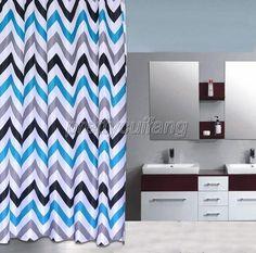 Abstract Color Gear Stripes Design Bathroom Fabric Shower Curtain Ps299 #DLL #Modern