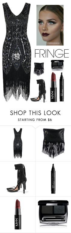 """""""Cocktail party Elegance"""" by kotnourka ❤ liked on Polyvore featuring Jimmy Choo, Michael Kors and NYX"""