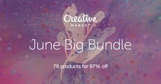 Another month another insane Creative Market bundle! Check out June Big Bundle on Creative Market Graphic Design Tips, Print Design, Typography Design, Lettering, Fancy Fonts, Photoshop, Flyer, Thing 1, Template