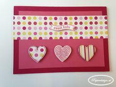 Papierdesign met Stampin' Up!: Hearts A Flutter babykaart