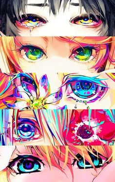 Eye different color and animal human