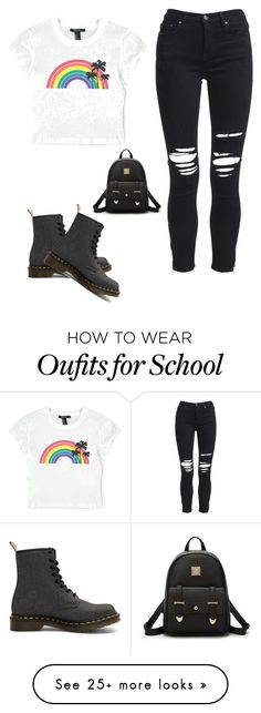 """""""Chill"""" by jarrett-sophie on Polyvore featuring AMIRI, Forever 21 and Dr. Martens"""