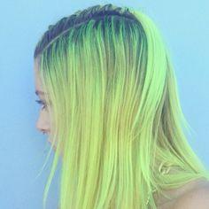 Neon lime hair!