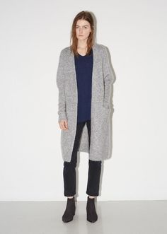 From Stockholm-based Acne Studios' latest collection of androgynous, forward-thinking wardrobe staples. An easy-wearing open front long cardigan, knit from a so