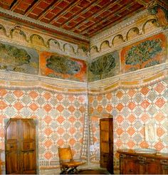 Fresco, Wall Painting Decor, Italian Home, Renaissance Era, Building Art, Medieval Castle, Wall Treatments, Room Paint, Architecture Details