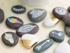 Here are 7 cool new ways to decorate all those rocks you found with the kids this summer!
