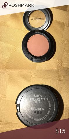 Mac eyeshadow Like brand new Mac eyeshadow only used to see the color. The color is in Swiss chocolate and it is matte MAC Cosmetics Makeup Eyeshadow