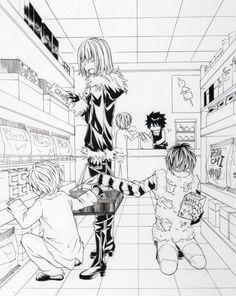 Mello,Near and Matt at the supermarket