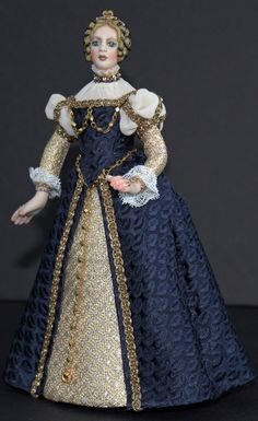 Doll by Sally Cutts dressed by Susan Sirkis