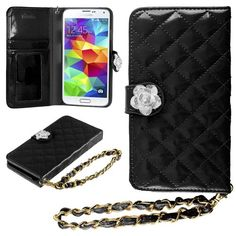 HHI Samsung Galaxy S5 Quilted Purse Wallet Case BLACK with Crystal Flower Bling and Hand Strap Handhelditems http://www.amazon.com/dp/B00IYYFP9A/ref=cm_sw_r_pi_dp_dToFub09HZ5NZ