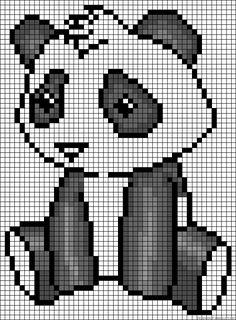 Panda perler bead pattern http://mistertrufa.net/librecreacion/culturarte/?p=12