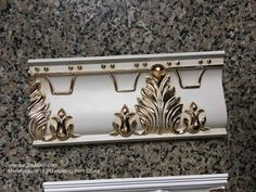 PU moulding with gold foil