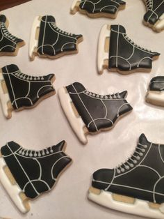 The details on the hockey cookies...