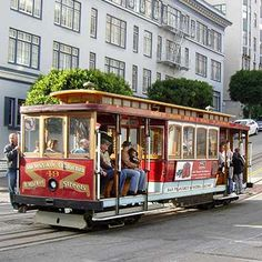 Buy city pass in San Fran to include trams, boat trip, Monterey aquarium San Francisco Cable Car, San Francisco City, San Francisco California, California Dreamin', San Francisco Attractions, San Francisco Vacation, San Francisco Travel, Usa Places To Visit, Places To Go