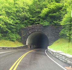 Tunnel in the Smoky Mountains you have to honk your horn!!!